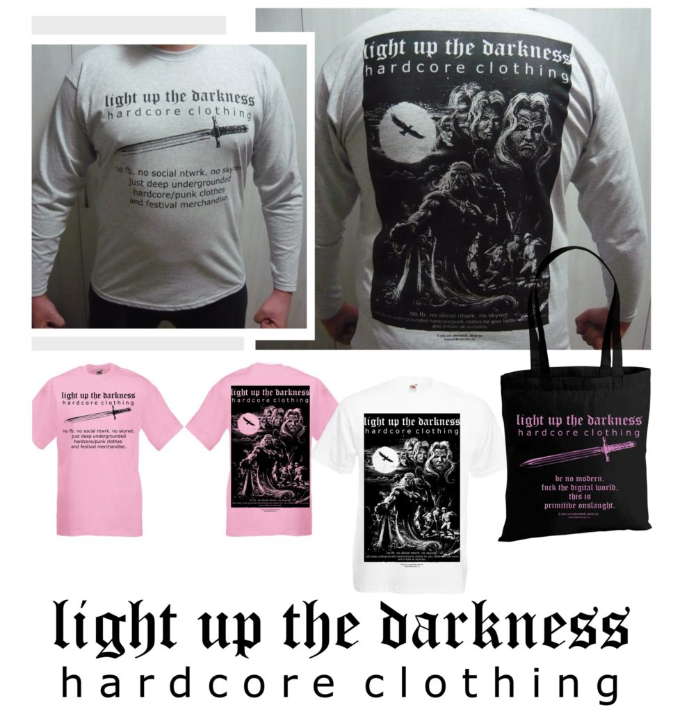 LIGHT UP THE DARKNESS hardcore clothing